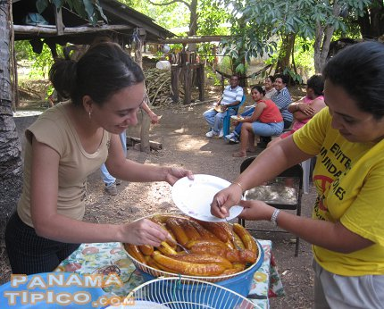 [After a while, it is time to get the plantains and distribute them between the participants.]