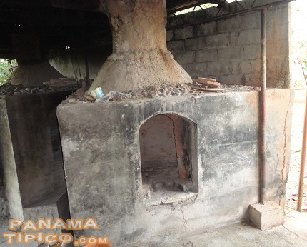 [This is one of the ovens where the vessels are cooked.]