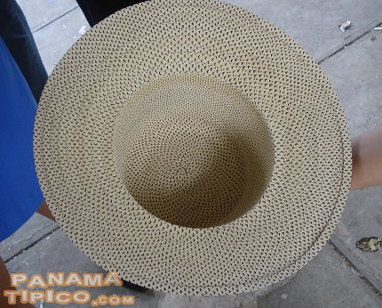 [A view of the inside of the same hat.]