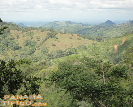 [This is a breathtaking view of the surrouding area, looking in the direction of the city of La Chorrera.]