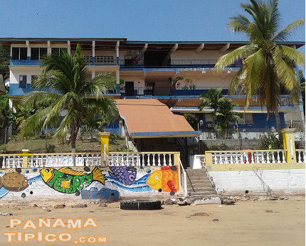 [Local children go to school at this building right on the seafront.]
