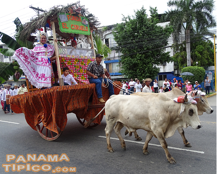 [A great draw to the parade are the oxen-pulled carts. This year, there were more than twenty. This one is from a hospice for AIDS patients.]