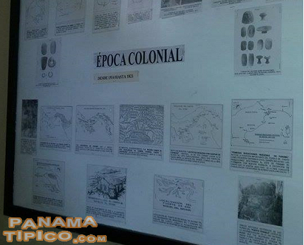 [Plenty of information about the history of the town is shown in the walls of the museum.]