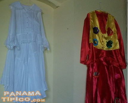 [Chepo's folk dresses such as the matinee pollera and the Great Devil dress are shown at the museum.]