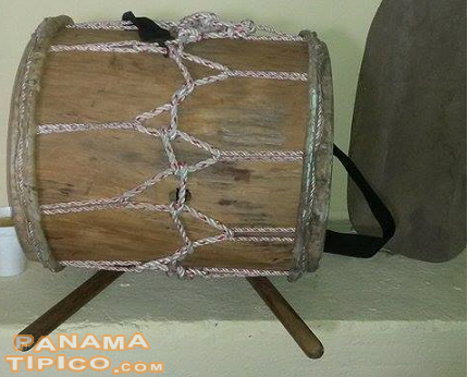 [Local music is represented by this handmade traditional drum.]