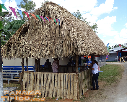 [Some of the fair stands were actually thatched-roof traditional huts.]