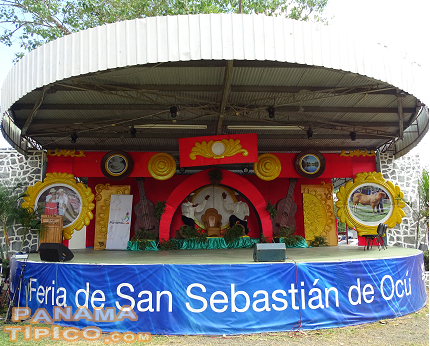 [Many cultural performances take place during the fair at its main stage, seen here.]