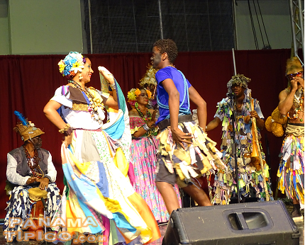 [The other Black community of Panama, the Afrocolonial, was present with their Congo dance.]