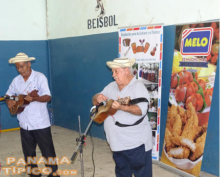 [The next activity was a cultural performance by representatives of several towns of the region. Here we see two musicians from Macaracas.]