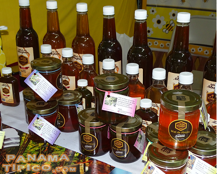[Honey production, an growing industry in the province, was also showcased at the fair.]