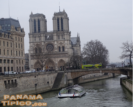 [The trip began with a stopover at Paris, a city known for its impressive monuments, such as the Notre Dame Cathedral.]