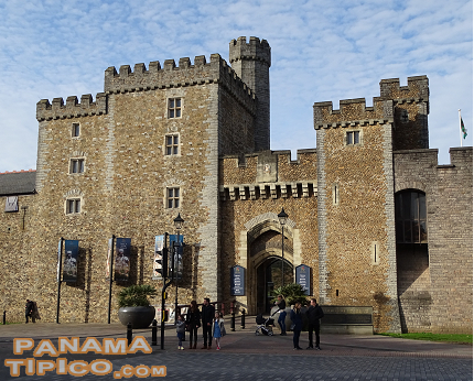 [After the conference, the next stop was Cardiff, capital of Wales. The city's main cultural tourism attraction is its impressive castle.]