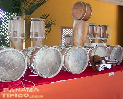 [Traditional drums also were evaluated during the contest.]