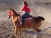 [Thumbnail: Female rider in a rodeo competition]