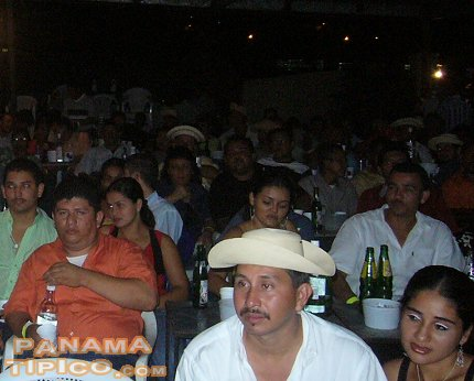 [A lot of people attend these cantaderas. Afterwards, they stay for the accordion performance.]