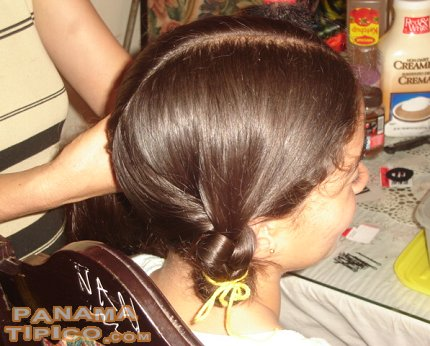 [Another view of one of the pigtails]